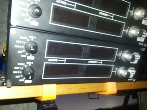 Saitek flight panels top rack mount