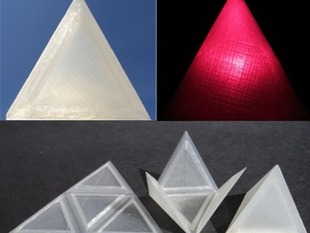 Foldable Tetrahedron - Print Flat