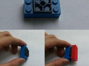 Customizable Double Female Lego Piece