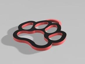Dog Paw Keychain (◕‿◕)