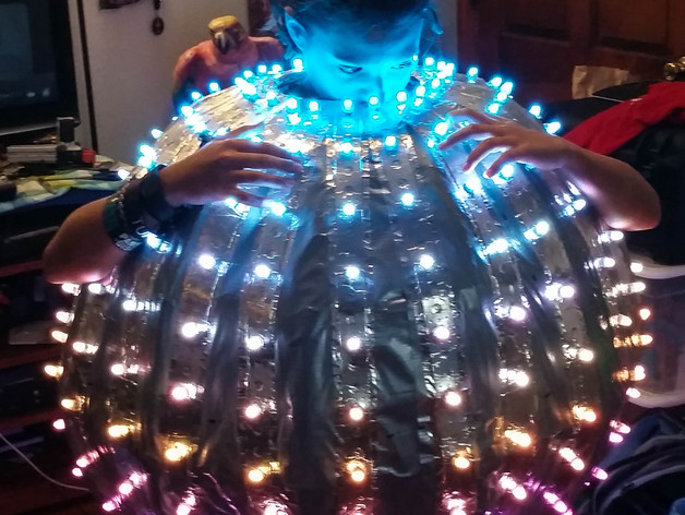 Disco Ball powered by Drone Battery and Raspberry Pi by