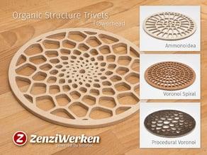 Various Organic Structure Trivets cnc/laser