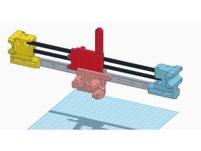 Hypercube Linear Rail X Axis