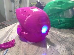 LED modified rear insert for Halo Helmet