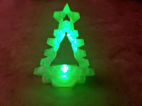 5mm LED REMIX-  Christmas Tree Ornament - Removable battery