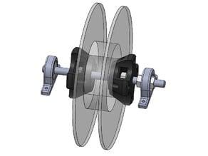 Support bobine spool serrage manuel