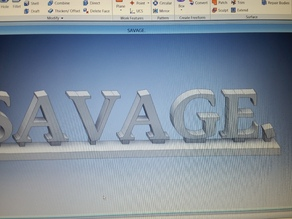 SAVAGE. Desk Topper Paper Weight