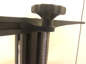 Ender 3 Z lead screw support for use with filament guide