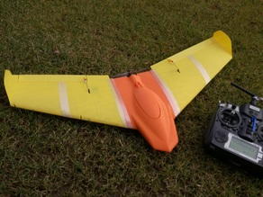 GASB One - RC Flying wing fully printed (ONLY 9 PIECES GLUELESS)