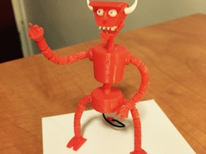 Articulated Robot Devil Figure from Futurama