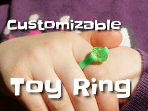 Customizable toy ring