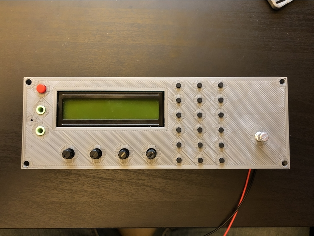 Faceplate for DDS Signal Generator for SSB6 1 Project by