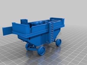 Enn'llien SteamTank (cargo cart) miniature for RPG