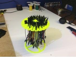 Pivoting wire racK