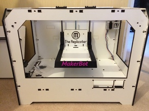 Makerbot Replicator Bed Arms