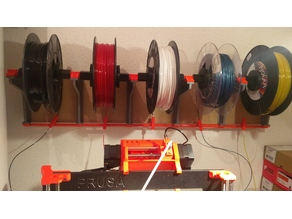 PRUSA MMU2 Wall mount spool holder V2