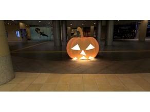 Halloween pumpkin OK without support