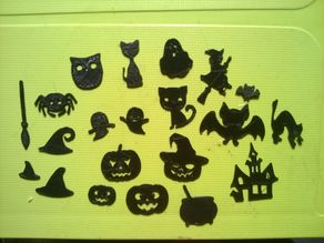 Halloween elements for scrap-booking  and other crafts