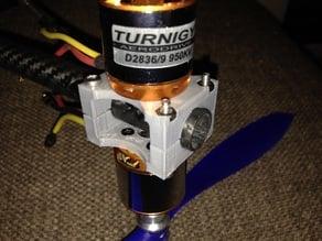 Multirotor Motor mount for 14mm tubes
