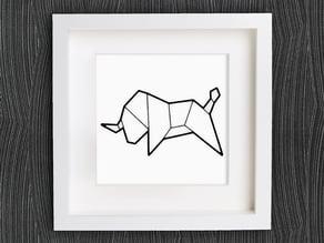 Customizable Origami Bull