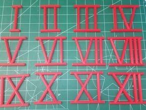 Clock Numbers, Roman Numerals