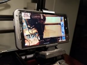 Print in place universal phone tripod mount
