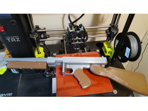 Double Thompson SMG Custom 3d Print Prop