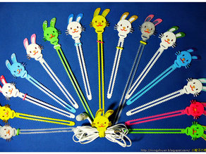 Bunny Cable Holder / Bookmarks / Keychain / Bracelet