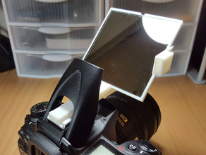 DSLR Built-In Pop-Up Flash Bounce Mirror