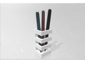 Abstract Mini Pen Holder