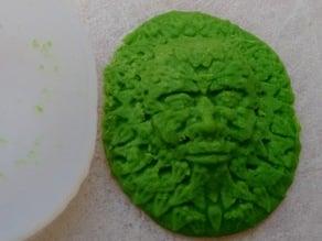 Green Man Fondant/Chocolate mould