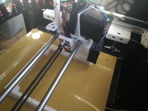 x carriage for E3D V6 / 50 mm axis distance with Auto Bed Leveling