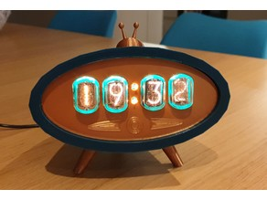 Retro themed Nixie clock