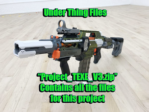 Nerf Arduino Select Fire Rapidstrike Project Files