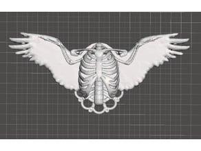 Gothic Ribcage Angel Pendant