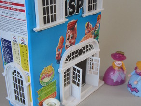 Cereal box, Baroque house