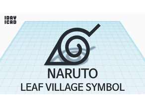 [1DAY_1CAD] NARUTO LEAF VILLAGE SYMBOL