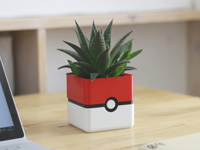 Pokemon Planter - Pokeball Minimal Planter