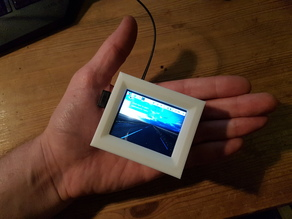 """Raspberry Pi Zero (W) Housing with 2.4"""" touch Display (mini PC)  //  Raspberry Pi Zero (W) Gehäuse mit 2,4"""" touch Display (mini PC)"""