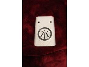 O'Cello Electronics Cavity Cover - Awen Symbol