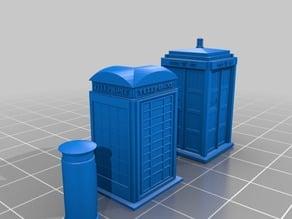 15mm 1935 K2 Telephone Box, Royal Post Box & Type 40 TARDIS