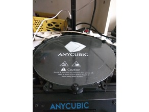 Anycubic Kossel Delta Plus heatbed mount