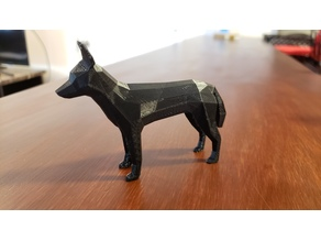 Low-Poly African Wild Dog (Painted Wolf)