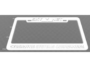 Skynet - Cyberdyne Systems Corporation, License Plate Frame, Terminator