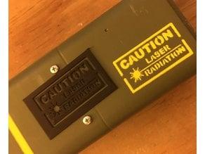 Laser Caution Stencil for AEP7 Laser Pistol