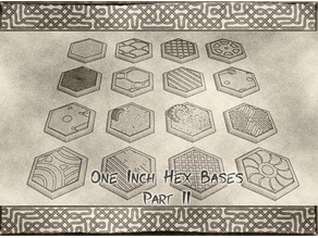 1 Inch Hexagonal Bases (x17) Part 2 for Dungeons & Dragons or Warhammer tabletop Miniatures