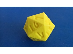 Icosahedron with a total of 52 or 53