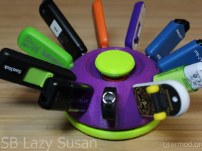 USB Lazy Susan (rotating thumb-drive holder)