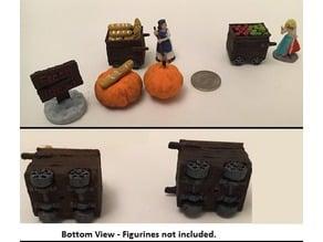 Miniature Medieval Food Carts