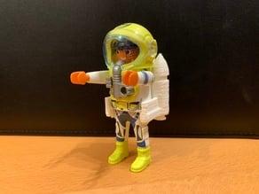 Playmobil-compatible Mars station rocket pack